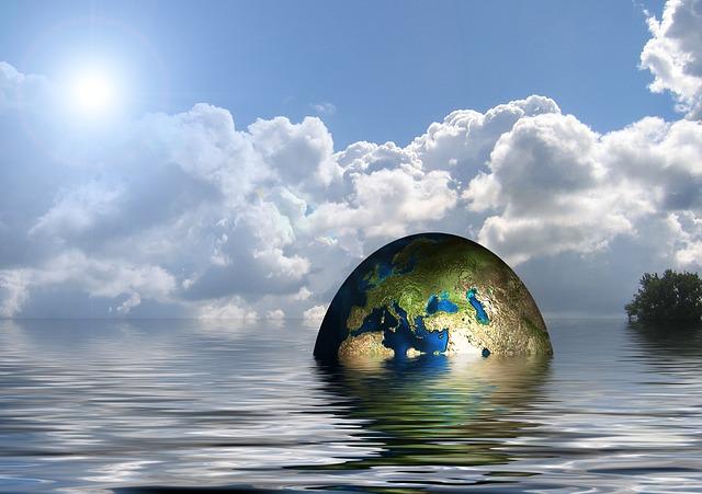 zeměkoule ve vodě